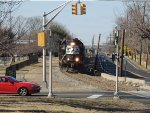 NS 5225 and 5224 head a 16 car train through Magnolia on March 4, 2013