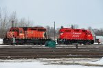 CP 5763 and pal firing up to help move stock