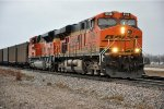 Empty coal train continues west