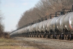 Lined Up Tank Cars