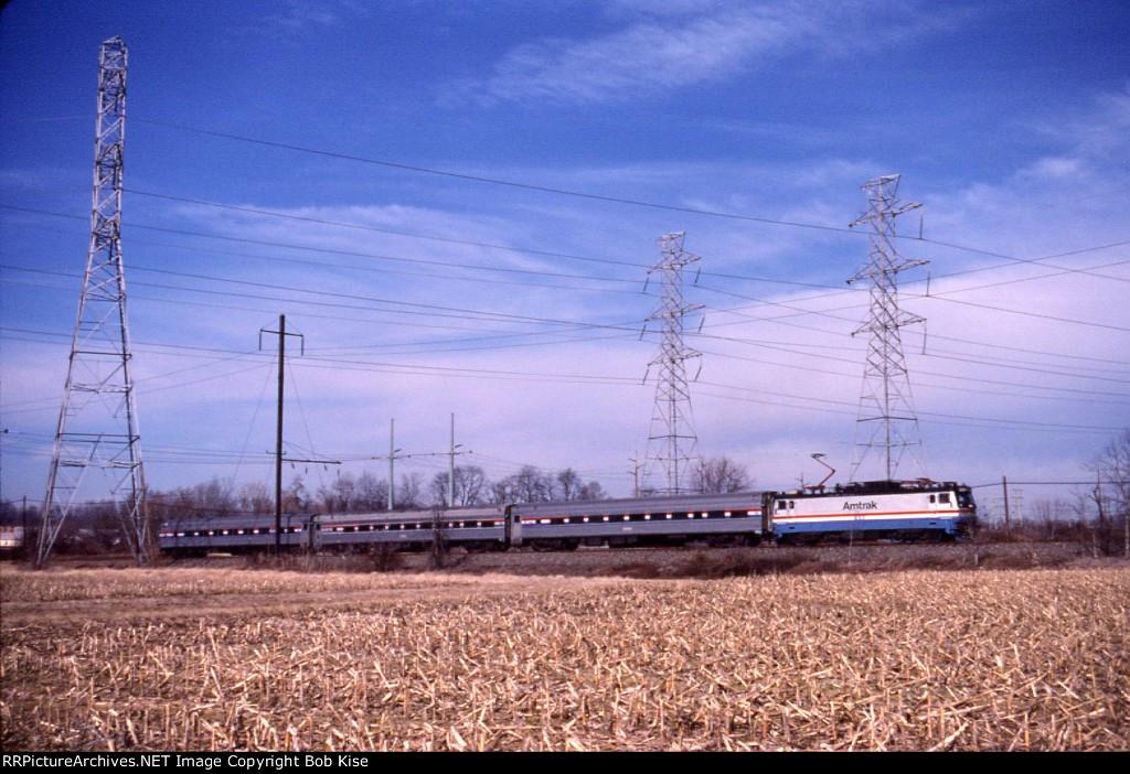A Keystone Service train eastbound