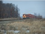 BNSF races across the prairie.