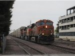 BNSF Vehicle Train in Bakersfield