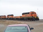 BNSF SD39-2 1810, BNSF SLUG 270, BNSF SD40-2 1888 & BNSF ES44DC 7437