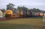 72 and 82 paired up on SB freight early in the morning