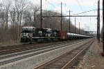 NS 8112 and empty oil train 65R