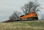 BNSF And The Wabash Rolling Down The K-Line
