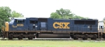 CSX 4589, the Spirit of Nashville, sits in the wye