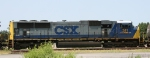 CSX 741 is switching a cut of cars