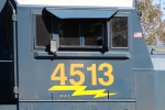 "CSX 4513 is designated as an ""SD70-2"""
