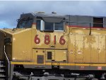 Cab shot of Trailing unit Union Pacific 6816