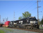 NS 9854 On NS 25 A Eastbound