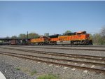 BNSF 9169 and 4789; NS 1033