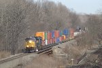 CSX Q114 roars over the Frenches Hollow Tresltle