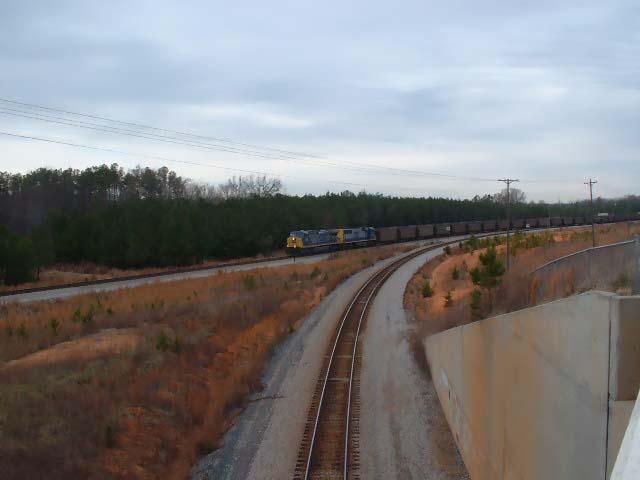 CSX Train N175 from US 221 bridge