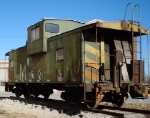 MKT 123 Caboose being readied for display