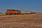 BNSF 2734 and 2704 Lead the Crete Roadswitcher