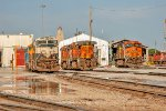BNSF 9540, 5704, and 5899