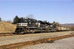 NS 1058 will lead this coal train back to Harrisburg after switching from the west end to the east end of the train.
