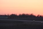 Coal train heads out of Galesburg in the beautiful sunset