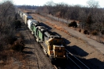 BNSF 6771 leads two &quot;hired guns&quot; and a short train