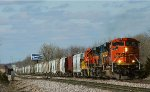 Colorful BNSF consist