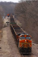 Southbound BNSF Special Unit Train DPU Locomotive