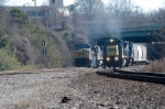 p65 waits for q464 to clear elmwood jct so he can back on to the csx and then cn&l sub