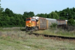 28t runs the wline with 1 bnsf on the point its mostly down grade