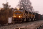 "P65 heads north on the wline on a rainy monday in the ""ditch"""