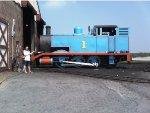 Getting Thomas ready.