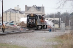 with the old southern depot in the background 191 wyes its power