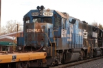 rusty and old ex conrail unit is still a sweet shot even in the trailing postion