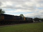 CSX 263 and 3010 lead a container train northbound