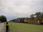 CSX 7754, 7516, and 1216 lead a general merchandise train Southbound