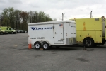 Amtrak system welding trailer