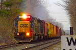 CSX Q633 storms east on the selkirk branch