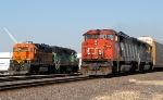 CN 5541 & BNSF 2199 in Rochelle