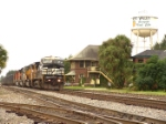 NS 8383 passing by the old yard office