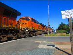 ES44C4 #6926 Tags Along on Westbound BNSF M-BARRIC