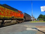 C44-9W #4505 Tags Along on Westbound BNSF M-BARRIC
