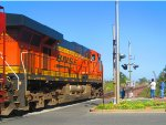 ES44DC #7526 Tags Along on Westbound BNSF M-BARRIC