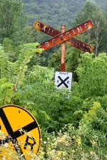 NECR railroad crossing signs