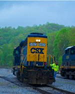 CSX SD40-2's at Loyall