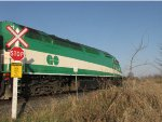 GO 641 pushes backwards on a NB GO Train