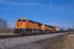 BNSF 7706 Southbound at Carlisle, Ohio  MP 222