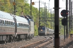 Amtrak train 79(3) meets train 56(3)