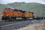 Westbound unit coil train enters siding