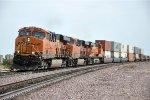 Westbound stack train resumes travel