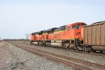 Going away shot of a powder river train with a pair of BNSF ACes